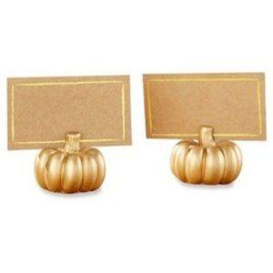 Set of 6 Gold Pumpkin Place Card Holder
